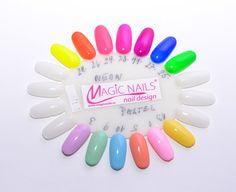UV Gely Neonové a pastelové