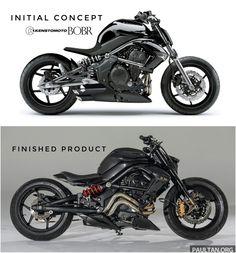 Concept vs Actual Concept Motorcycles, Kawasaki Motorcycles, Racing Motorcycles, Custom Motorcycles, Custom Bikes, Street Fighter Motorcycle, Cafe Racer Motorcycle, Moto Bike, Motorcycle Engine