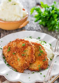 Pork Schnitzels - a super easy to follow recipe for these delicious schnitzels, serve them with some yummy mashed potatoes and you've got yourself dinner.