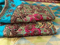 Wedding Saree Blouse Designs, Pattu Saree Blouse Designs, Wedding Sarees, Cut Work Blouse, Aari Work Blouse, Mirror Work Blouse Design, Kutch Work, Tambour Embroidery, Stylish Blouse Design