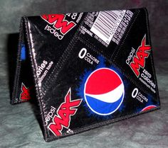 Mini Wallet from Recycled Pepsi Max Soda Bottle labels by squigglechick, $18.00