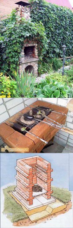 Строим мангал на даче из кирпича самостоятельно | Печи | Постила
