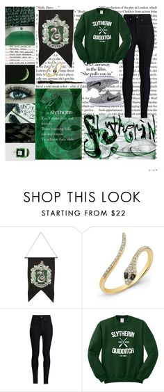 """Slytherin pride!"" by tiger-queen ❤ liked on Polyvore featuring WALL, Anne Sisteron and Rodarte"