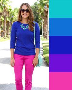 I COLORI CHE STANNO BENE CON IL BLU: abbinare vestiti e accessori! Colour Combinations Fashion, Color Combinations For Clothes, Color Blocking Outfits, Fashion Colours, Colorful Fashion, Color Combos, Fashion Mode, Fashion 2020, Look Fashion