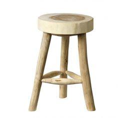 Taburete madera natural