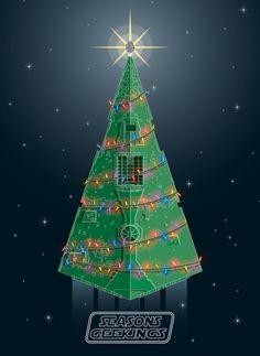 THIS! STAR WARS Christmas Card - Star Destroyer ChristmasTree - News - GeekTyrant