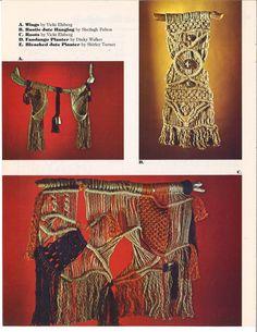 Creations in Macramé Macrame Wall Hanging Patterns, Macrame Patterns, Hanging Wall Art, Crochet Patterns, Wall Hangings, Macrame Plant, Hanging Terrarium, Book Wall, Owl Art