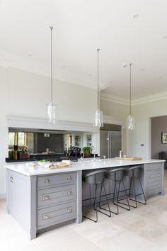 The Kitchen Island at The Grange, Ascot Project | Humphrey Munson #humpreymunson…