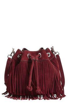 547ac925e243 Rebecca Minkoff  Mini Fiona  bucket bag Borse Con Frange