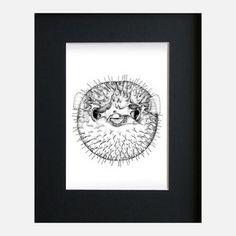 Pufferfish 8x10, $35, now featured on Fab... cute :)