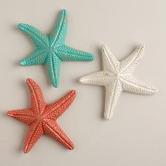 Ceramic Starfish - tropical - artwork - World Market Coastal Style, Coastal Decor, Tropical Artwork, Mermaid Bedroom, Garden Lanterns, Patio Rugs, Big Girl Rooms, Florida Home, Beach Cottages