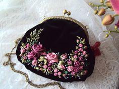 """(57) Gallery.ru / Бархатная сумочка """"Розы, розы..."""" - Мои сумочки - Irina-mist"""