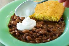 My favorite cornbread! (MJ) Pinto beans cornbread from the Pioneer Woman