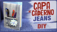 Capa de Caderno Jeans =DiY
