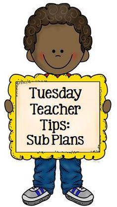 Tuesday Teacher Tips: Sub Plans with a #FREE Printable Sub Planner #FernSmithsClassroomIdeas #FREEBIE