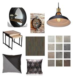 """Industrial home"" by szilagyikatalin on Polyvore featuring interior, interiors, interior design, home, home decor and interior decorating"