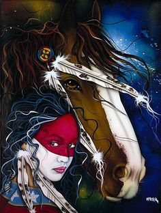 Indians on the path of love from Henri Peter images) Native American Horses, Native American Paintings, Native American Pictures, Native American Beauty, Native American Artists, American Indian Art, Native American History, American War, Indian Animals