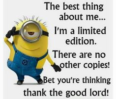 Minion quotes are hilarious. These are the 21 best funny minions quotes of the day that will make you laugh. Minion Humour, Funny Minion Memes, Minions Quotes, Funny Jokes, Minion Sayings, Funniest Memes, Image Minions, Minions Images, Minions Pics