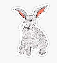 Rabbits Pegatina