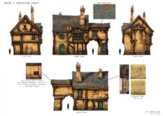 Great Medieval House Plan Fantasy Enchanted Living Pinterest House Plans #8972 Fantasy house Medieval houses Architecture