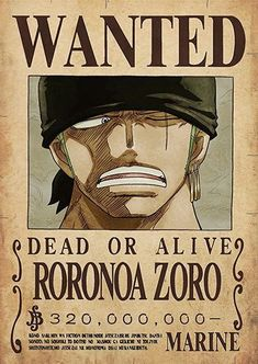 Zoro's former wanted poster. Zoro's current wanted poster. Zoro as a child. Zoro on Volume One Piece Manga, Ace One Piece, One Piece Figure, One Piece Drawing, Zoro One Piece, Roronoa Zoro, Monkey D Luffy, Anime Disney, Thicc Anime