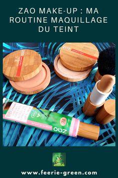Ma routine maquillage du teint de la marque ZAO MAKE-Up ...Une marque qui propose des produits de soins et de maquillages  bio, vegan et rechargeables. (présentation, analyse et avis des  produits) Green Life, Make Up, Vegan, France, Mathematical Analysis, Homemade, Products, Board, Makeup