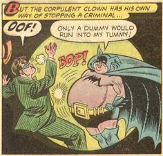 "Batman - ""Batman Meets Fatman"" written by Bill Finger art by Sheldon Moldoff & Charles Paris Funny Cartoons, Funny Memes, Funniest Memes, It's Funny, Comic Books Art, Comic Art, Batman And Superman, Batman Stuff, Bored Funny"