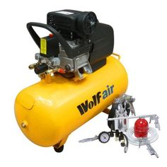 wolf sioux 50 25hp 95cfm 230v mwp 116psi 50 litre air compressor 13 piece spray air tool kit including pro syphon feed spray gun tyre inflator