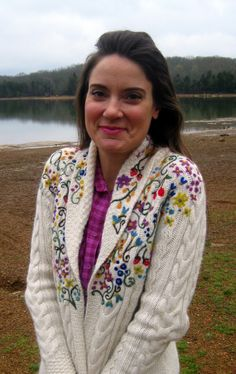 Cassie Stephens: DIY: Felted Floral Sweater: great knock off of a beautiful sweater you can do too!