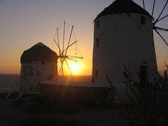 Mykonos sunset 3 - Mykonos windmills - Wikipedia