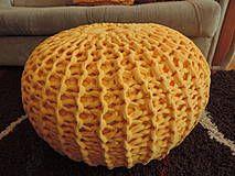 Nábytok - Bomba pouf - mega hrubý žltýýý - 4200588_