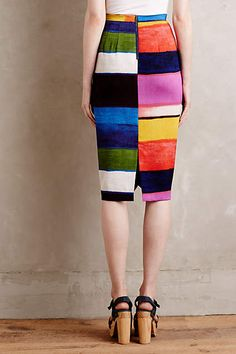 Colorfield Pencil Skirt - anthropologie.com: for BAs only
