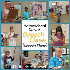 The Unlikely Homeschool: Homeschool Co-op Public Speaking Class {Lesson Pla...
