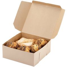"10"" x 10"" x 4"" Kraft Cake / Bakery Box - 100 / Bundle"
