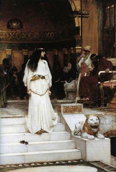 """Mariamne Leaving the Judgement Seat of Herod"" (1887) by John William Waterhouse (1849-1917)."