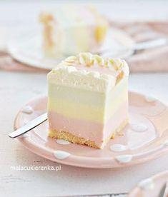 Ciasto Rajska Pianka Non Bake Desserts, Polish Desserts, Cold Desserts, Polish Recipes, Baking Recipes, Cookie Recipes, Yummy Food, Tasty, Sweets Cake
