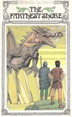 """Ursula K Le Guin - """"The Farthest Shore (Earthsea Trilogy Book Puffin Books (UK), Originally published Fantasy Book Covers, Fantasy Books, Fantasy Artwork, Ace Books, Sword And Sorcery, Science Fiction Art, Vintage Children's Books, Book Nerd, So Little Time"""