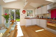 4 bedroom terraced house for sale in Levendale Road, Forest Hill, - Rightmove. Kitchen Diner Extension, Open Plan Kitchen, New Kitchen, Kitchen Decor, Kitchen Design, Kitchen Dining Living, Kitchen Family Rooms, Cocinas Kitchen, Paint Colors For Living Room