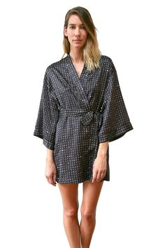 RECLINER Kimono Gown in Damn Fine print / $95.  Available now on www.recliner.nyc