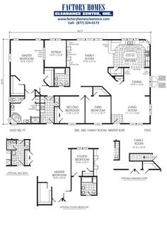 Triple wide manufactured homes floor plans gurus floor for Mobile home roof over plans
