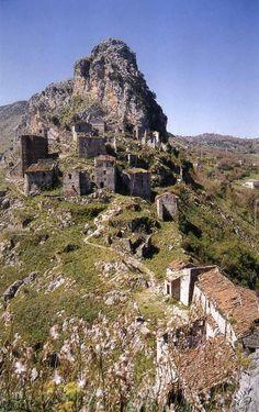 Ancient Mountain Village of San Severino, Marche, Italy