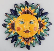 Mexican Talavera Ceramic Sun Face Wall Decor Hanging Pottery Folk Art # 04  sc 1 st  Pinterest & Talavera Wall Art - Talavera Animals - Mexican Decorative Accents ...