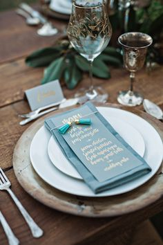 Tassel place setting | Amilia Photography