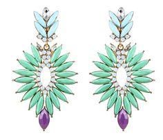 Statement earrings + summer dress=perfect!