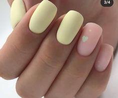 Nail Art Designs, Square Nail Designs, Cute Acrylic Nail Designs, Cute Acrylic Nails, Pastel Designs, Yellow Nails Design, Yellow Nail Art, Red Nail, Color Yellow