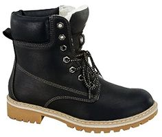JJF Shoes Broadway Black Military Combat Lace Up Faux Wool Fur Lined High Top Ankle Boots-8