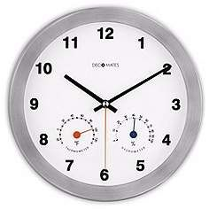 "Decomates Modern Multiplex 10 1/4"" Wide Silent Wall Clock"