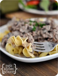 melskitchencafe.com: Quick Weeknight Stroganoff - a dinner staple at our house!