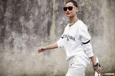 white sports fashion