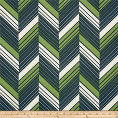 Ikebana Ziggy Stripe Charcoal Abstract Fabric